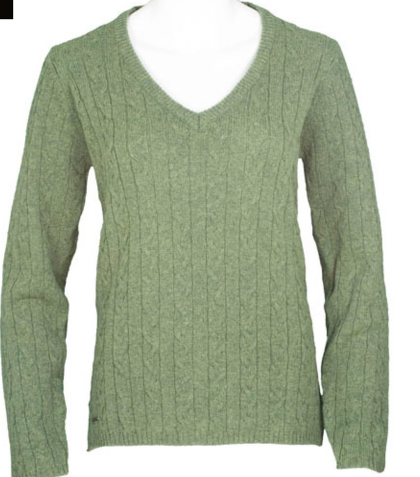 Ladies V Neck Knitted Jumper