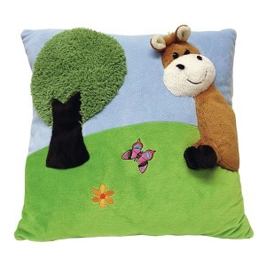 Plush Horse Cushion